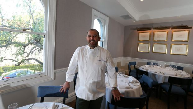 Right spot: Guillaume Brahimi at his new intimate restaurant in Paddington.