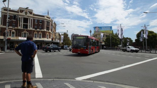 Clearway hours cut: Oxford Street at Taylor Square.