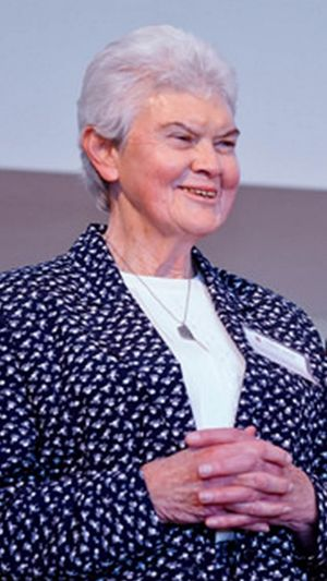 Pioneer: Sister Philomene Tiernan was the first female chancellor of an Australian diocese.
