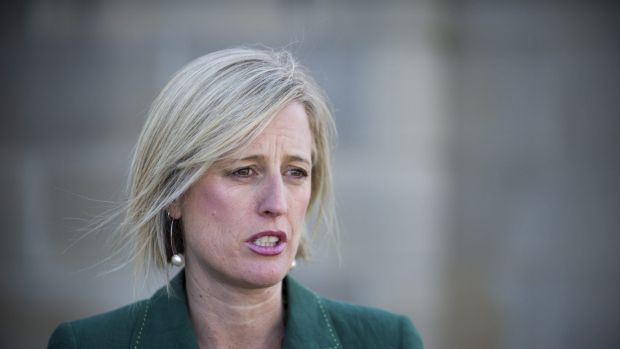 Chief Minister Katy Gallagher speaks to the media on Thursday.