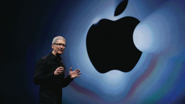 Preparing for launch: Apple CEO Tim Cook.