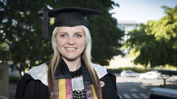 Samantha Alexander has overcome losing her sight to finish her degree.