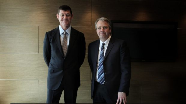 Crown's James Packer with Todd Nisbet.
