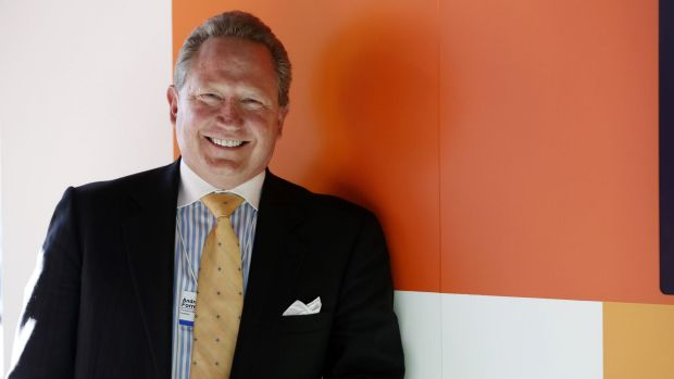 Fortescue chairman Andrew Forrest. The company's net debt position has improved by $US3.3 billion.
