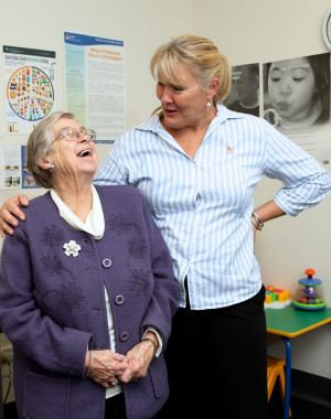 Parenting has gone through fad after fad: retired nurse Irene Macadie with nurse Jenni Jones.