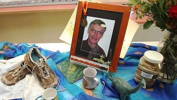 A memorial for Dr Roger Guard at Toowoomba Hospital.