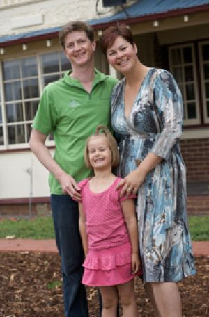 Bed and breakfast owner Chris Pittock, pictured with wife Dallas and daughter Ella, says his energy makeover has saved ...